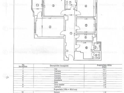 Apartament 4 Camere Decomandate - Zona Dacia - Gaze - Etaj 4