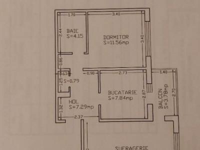 Vand Apartament 2 Camere Decomandate - KM 4-5 - Etaj 4 - Gaze La Aragaz